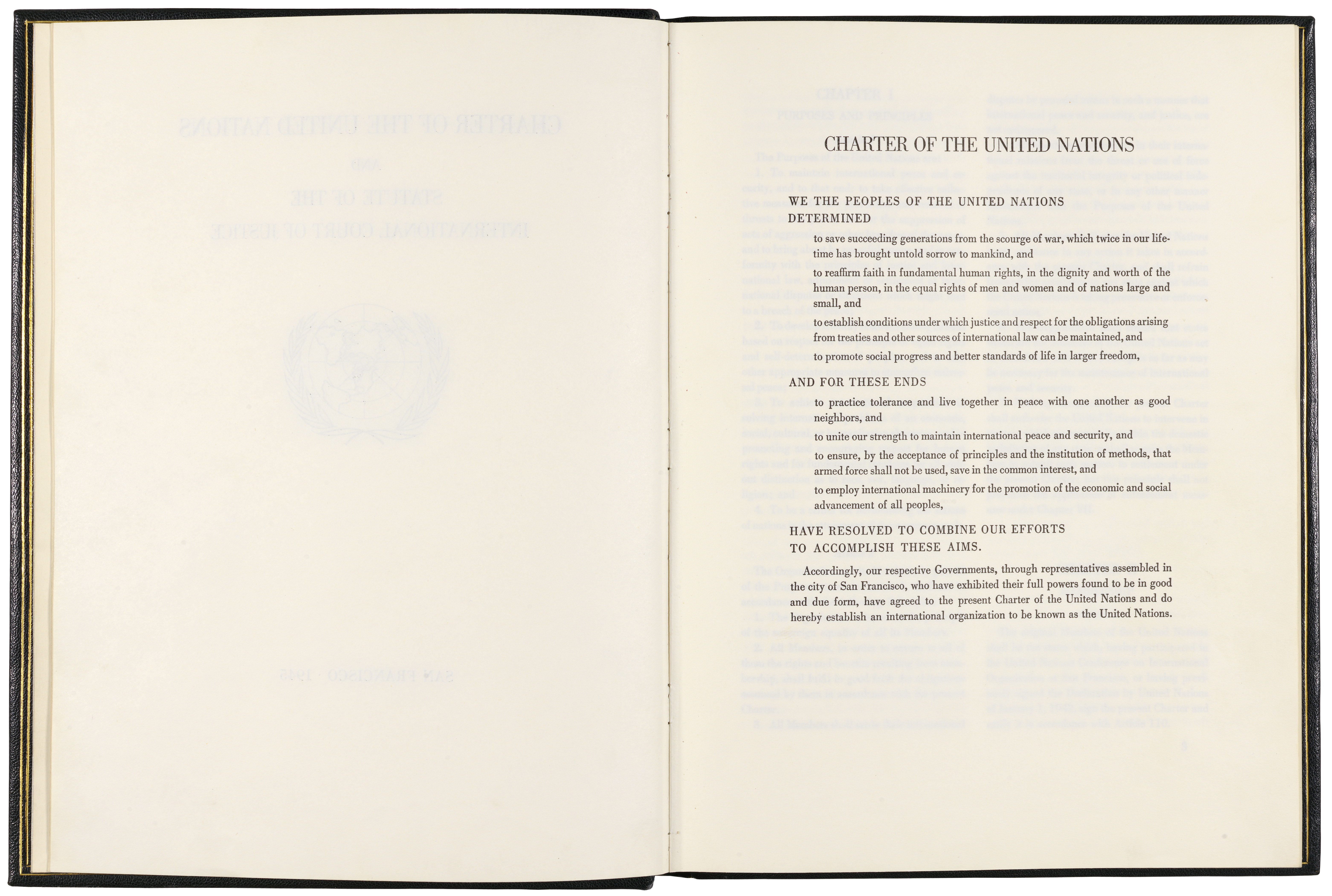 United Nations Charter, page 1