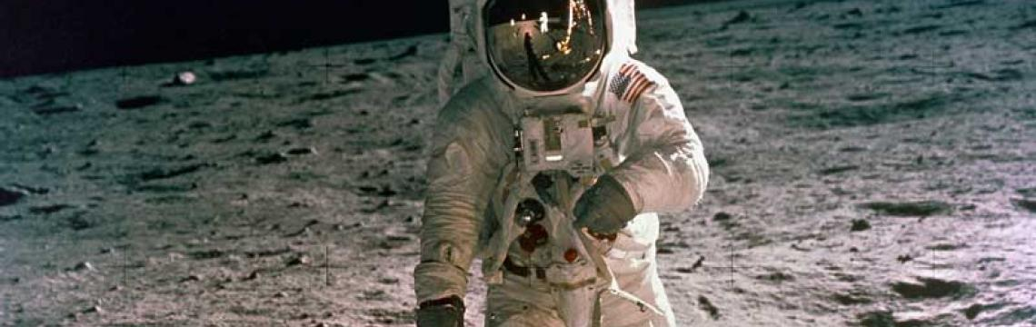 Astronaut Buzz Aldrin of Apollo 11 on the surface of the Moon
